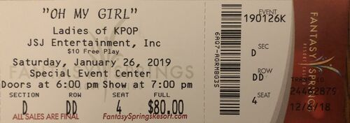 TheYandereOtaku Oh My Girl First US Tour 190126