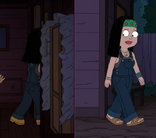 American Dad Hayley Boot to Sandals error