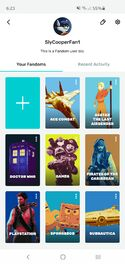 Fandom App Profile View