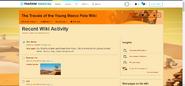 Recent Wiki Activity sample
