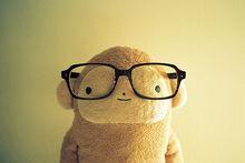 Cute,teddy,bear,kawaii,monkey,wearing,glasses,monkeys,nerdy-b4c684e9a0c2a4c965f24992856e8d6e h large
