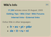 Dofus wiki front page