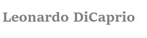 Leonardo DiCaprio Wordmark