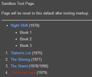 Books sandbox visual editor