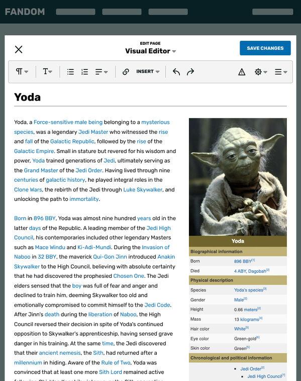 Visual Editor - Tablet Portrait