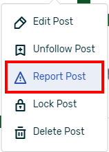 Reporting option