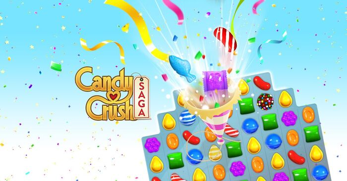 Candy Crush Saga footer celebration5 gameplay bg