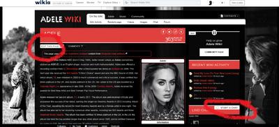 Adele wiki screenshot 2