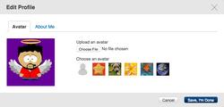 Uploading avatar