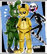 Springtrap golden freddy puppet fnaf by space zz dd4yvex-pre