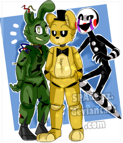 Springtrap golden freddy puppet fnaf by space zz dd4yvex-pre