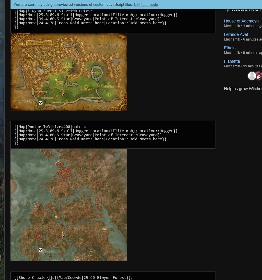 Witcher Maps - Natural Automatic Aspect Ratios on Embedded Map