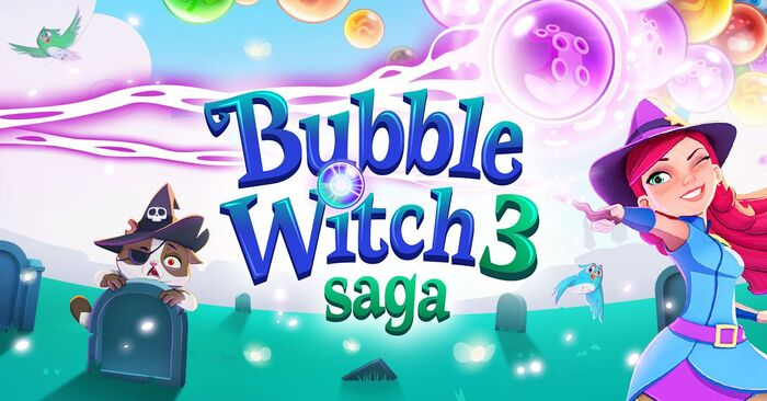 Bubble Witch 3 Saga footer gameplay bg