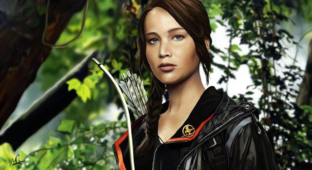 File:Katniss everdeen by mahdesigns-d4qp92e.jpg