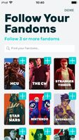 FANDOM app follow topics
