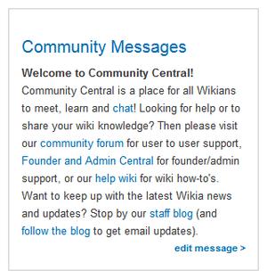 Community messages