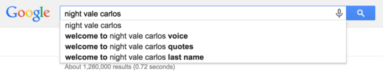 Night Vale Search Suggest