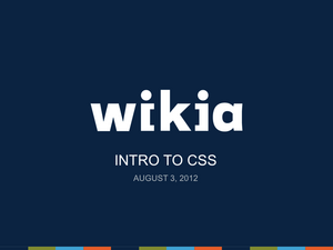 Intro to CSS Slide01