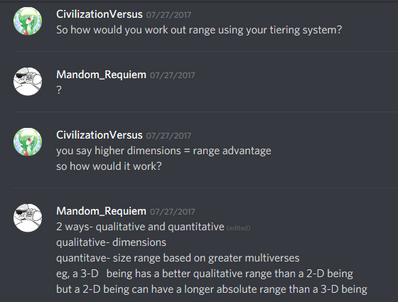 Proposition for the tiering system