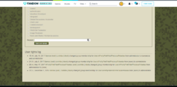 User rights log promotion version