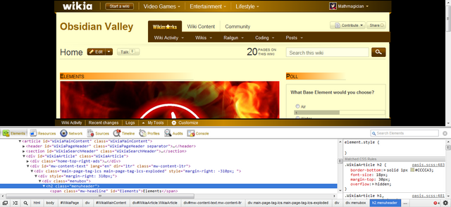 File:Developer tools Obsidian Valley wiki CSS.png