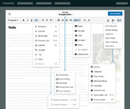 Visual Editor - Dropdowns
