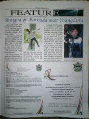 YoungLuiy Featured In Antigua's -1 Newpaper
