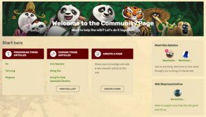 Kungfu panda wiki community page updated
