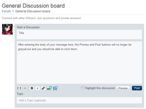 Start a discussion example