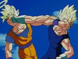 File:Goku ssj2 vs Majin Vegeta ssj2.jpeg