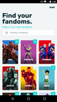 Android FANDOM app - topic selection