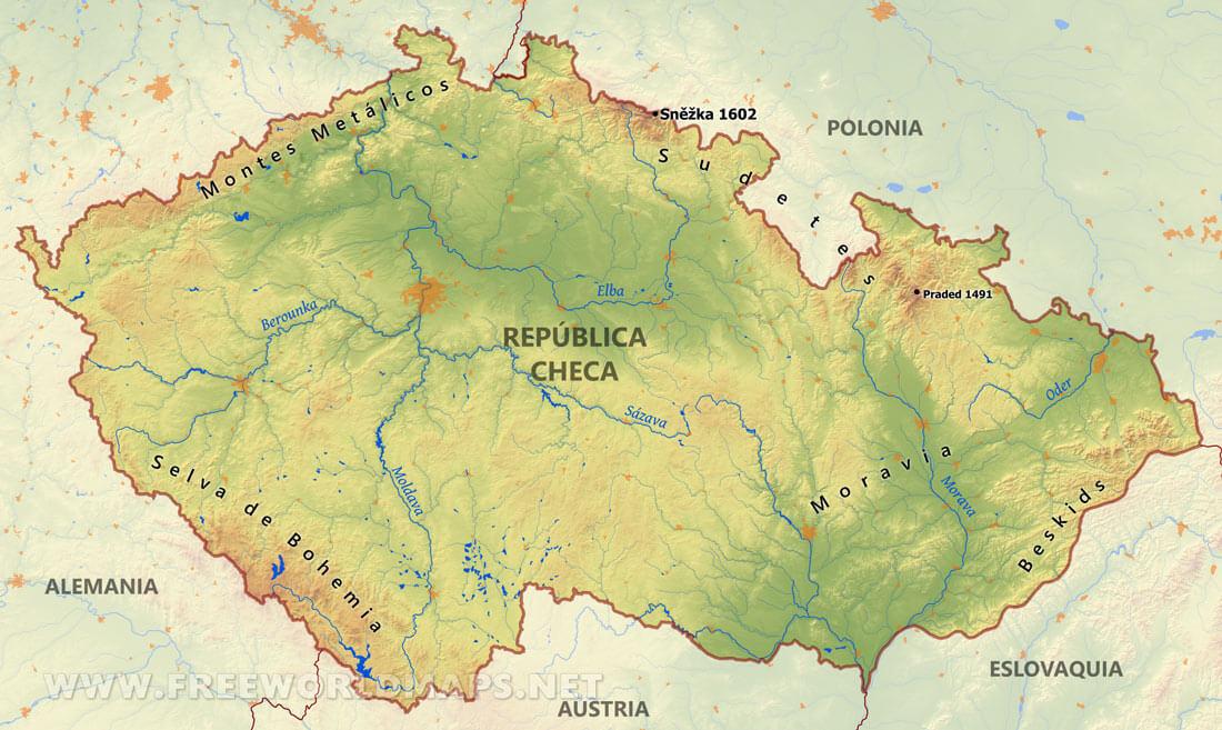 Image Mapa Fisico De Republica Checajpg Community Central
