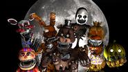 Fnaf 4 halloween gang
