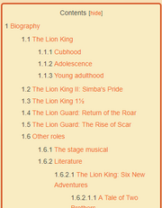 Lion King Content Box