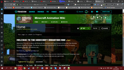 Minecraft Animation Wiki Screencap