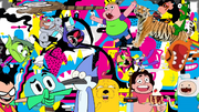 Cartoon network characters on it's first season