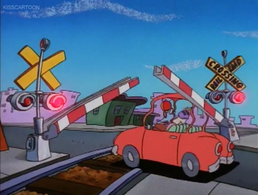 Railroad Crossing Cartoon Rocko's Modern Life Driving Mrs Wolfe 03