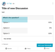 Discussions-poll-out-of-place