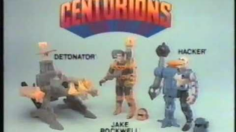 1986 Kenner Centurions toy commercial. Featuring Jake Rockwell, Hacker & Detonator.