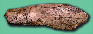 El Pendo-Caballos grabados en Hueso
