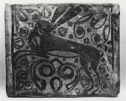 Spanish - Ceiling Tile with a Hare - Walters 48210612