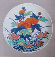 Floral Plate Nabeshima