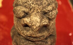 """Close-up of stone """"Nomoli"""" figure from Sierra Leone (West Africa)-817"""
