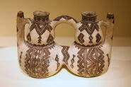 Ceramic Kabyle peoples double vessel (19th century)