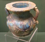 Glazed Roman Period Egyptian pottery vessel REM
