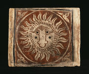 Spanish - Ceiling Tile with a Lion's Head - Walters 4821065