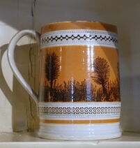 Mug with mocha decoration, England, c. 1800, earthenware - Concord Museum - Concord, MA - DSC05754