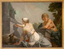 Château de Versailles, salon des nobles, Dibutade ou l'Origine de la peinture, Jean-Baptiste Regnault