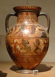 Etruscan amphora Louvre E703 side B