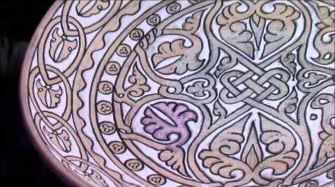 El proceso de la cerámica de cuerda seca